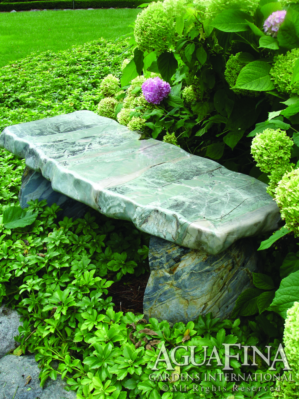 9 dragon bench w hydrangia