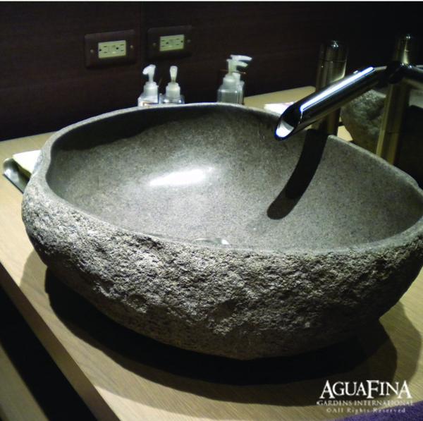 Superb Riverstone Vessel Sink