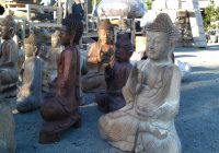 Wooden Buddha Carvings