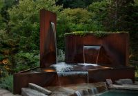 Corten Steel Pool Fountain